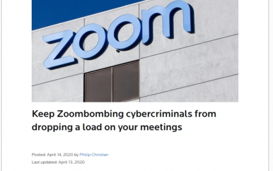 Stop Zoombombing cybercriminals