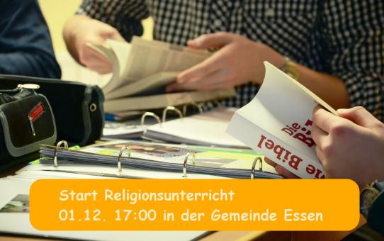 Start des Religionsunterrichts