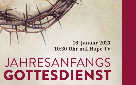 Rückblick Jahresanfang Gottesdienst am 16.01.2021